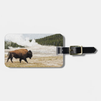 Bison and Old Faithful Luggage Tag