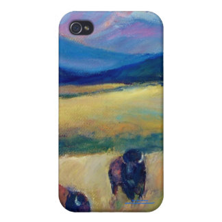 Bison and the Spanish Peaks iPhone 4 Covers