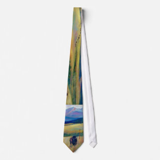 Bison and the Spanish Peaks Neck Tie