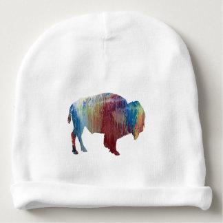 Bison art baby beanie