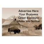 Bison/Barn Sepia Business Card Templates