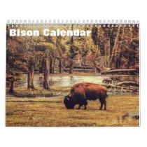 Bison Buffalo Calendar