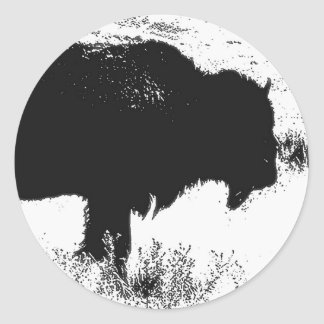 Bison - Buffalo Classic Round Sticker