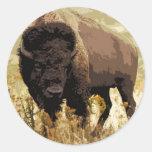 Bison / Buffalo Classic Round Sticker