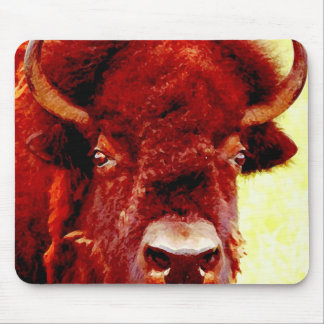 Bison / Buffalo Face Mouse Pad