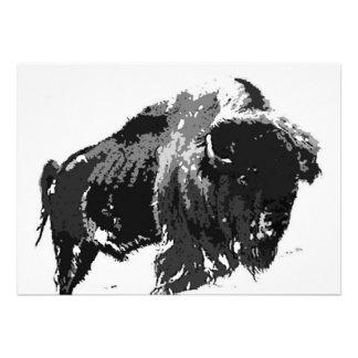 Bison / Buffalo Invitation - Buffaloes Invites