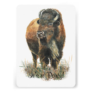 Bison Buffalo  Party Invite to Customize