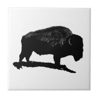 Bison Buffalo Silhouette Tile