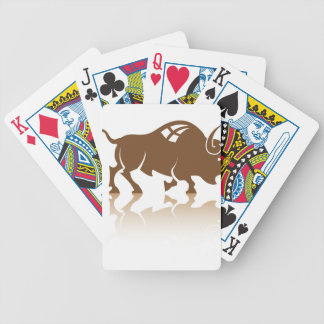 Bison Buffalo vector Bicycle Playing Cards