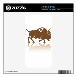 Bison Buffalo vector Skin For iPhone 4