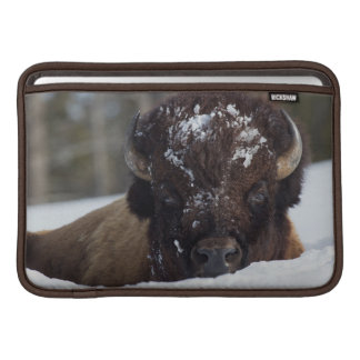 Bison Bull, winter 2 Sleeve For MacBook Air