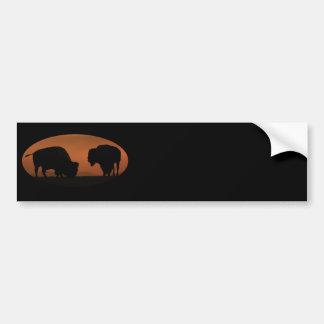 bison car bumper sticker