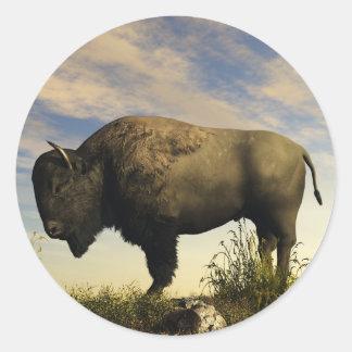 Bison Classic Round Sticker