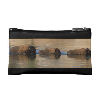 Bison Crossing River Makeup Bag
