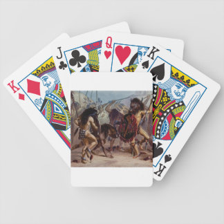 Bison dance bicycle playing cards
