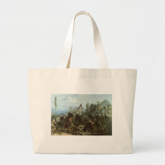 Bison Dance by Karl Bodmer, Vintage Indians Canvas Bags