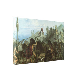 Bison Dance by Karl Bodmer, Vintage Indians Gallery Wrap Canvas