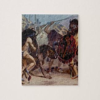Bison dance jigsaw puzzle