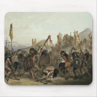 Bison-Dance of the Mandan Indians in front of thei Mouse Pad