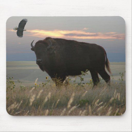 Bison/Eagle Mousepad