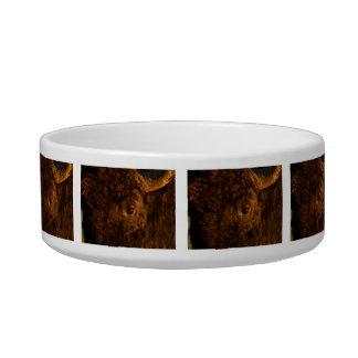 bison face bowl