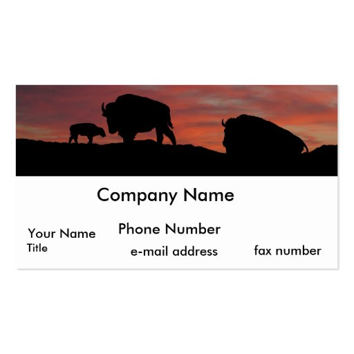 Bison family business card zazzle for Family business cards
