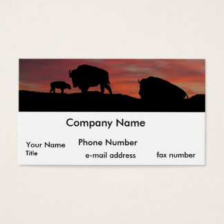 Bison family business card