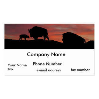 Bison family Double-Sided standard business cards (Pack of 100)