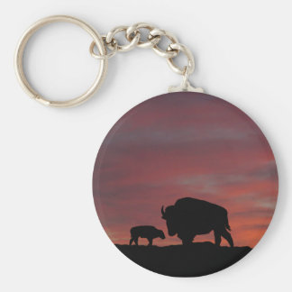 Bison family keychain