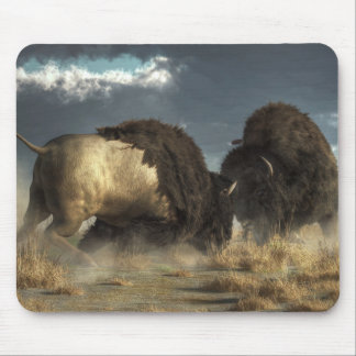 Bison Fight Mouse Pad