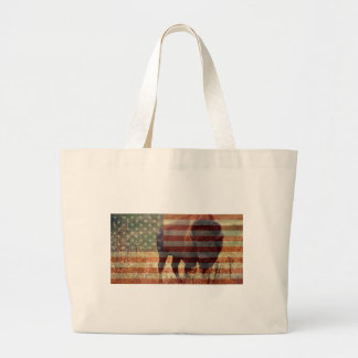 Bison Flag Canvas Bags