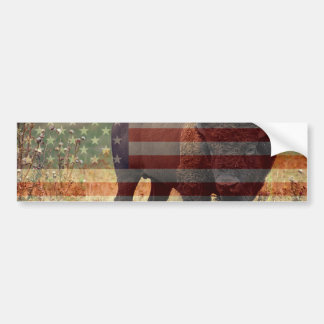 Bison Flag Bumper Sticker