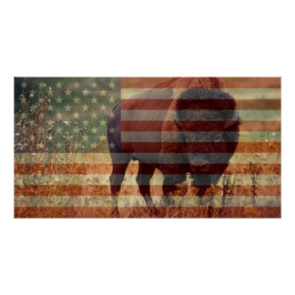 Bison Flag Posters