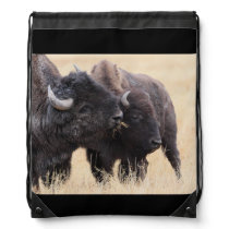 bison friendship drawstring backpack