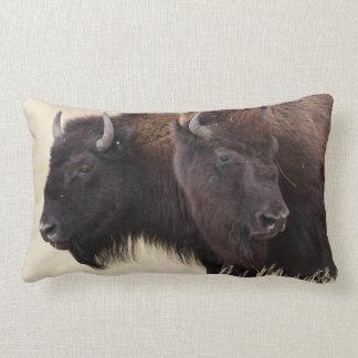 bison friendship throw pillow