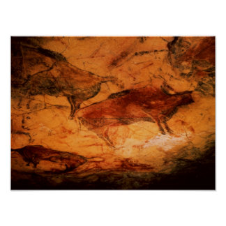 Bison from the Caves at Altimira c 15000 BC Poster