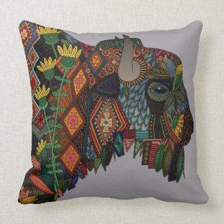 bison heather throw pillow