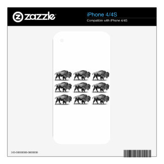 bison in rows skin for iPhone 4