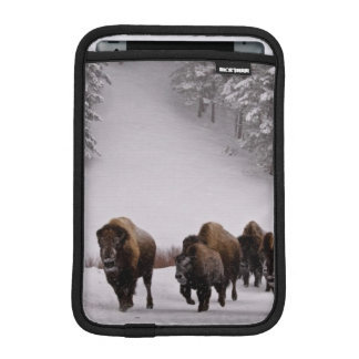 Bison in Winter Sleeve For iPad Mini
