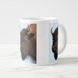 bison lady 20 oz large ceramic coffee mug