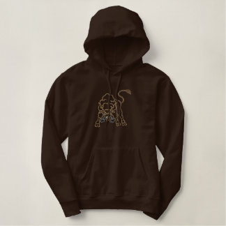 Bison Outline Embroidered Hoodie
