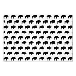 bison pattern photo art