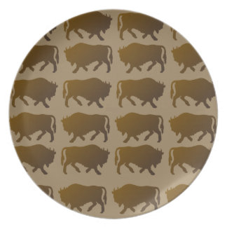 Bison Pattern Plate