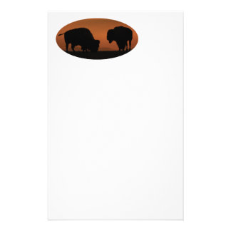 bison personalized stationery