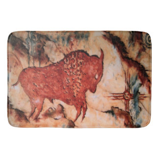 Bison Petroglyph Native American Bathmat