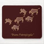 Bison Petroglyphs Mouse Mat