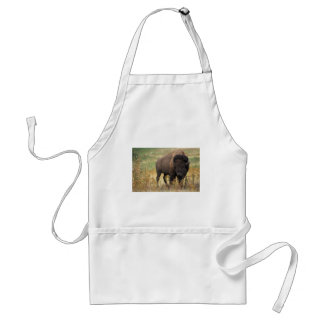 Bison photo adult apron