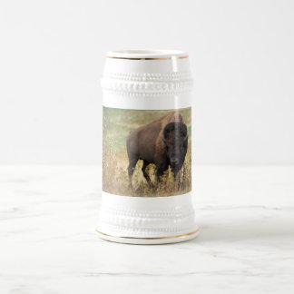 Bison photo beer stein