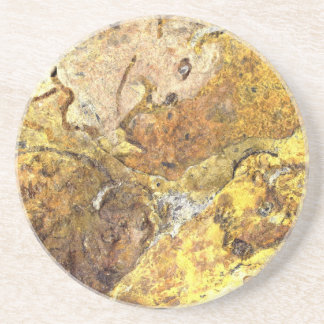 Bison pictograph drink coaster