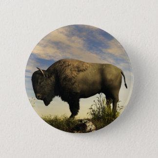 Bison Pinback Button